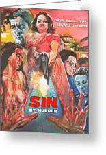 Sin By Murder Poster B Greeting Card