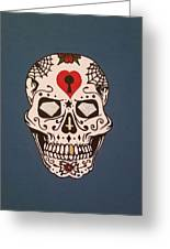 Sin Sugar Skull Greeting Card