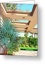 Sinatra Patio Palm Springs Greeting Card