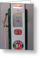 Sinclair Antique Gas Pump Greeting Card