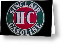 Sinclair Gasoline Porcelain Sign Greeting Card