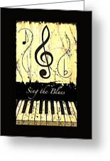 Sing The Blues Yellow Greeting Card