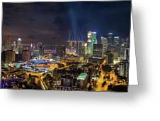 Singapore City Lights Greeting Card