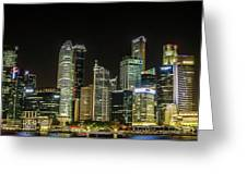 Singapore Evening Cascade Greeting Card