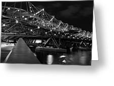Singapore Helix Bridge Greeting Card