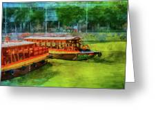 Singapore River Boats Greeting Card