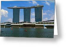 Singapore Ship Top Greeting Card