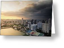Singapore Storm Brewing Greeting Card