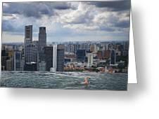 Singapore Swimmer Greeting Card by Nina Papiorek