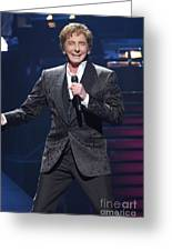 Singer barry manilow onesie for sale by concert photos singer barry manilow greeting card bookmarktalkfo Image collections