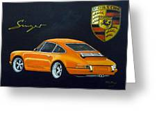 Singer Porsche Greeting Card