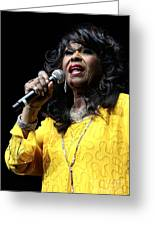 Singer Shirley Alston Reeves  Greeting Card