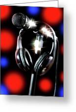Singer Stage Microphone Greeting Card
