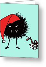Singing And Dancing Evil Christmas Bug Greeting Card