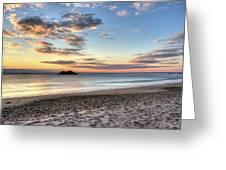Singing Beach Manchester Ma Sunrise Island Greeting Card
