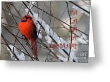 Singing Cardinal Christmas Card Greeting Card