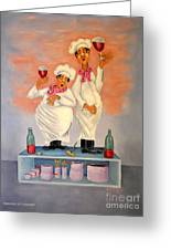 Singing Chefs Greeting Card