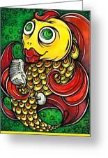 Singing Fish Greeting Card