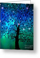 Singing In The Aurora Tree Greeting Card