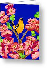Singing Oriole Greeting Card