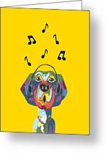 Singing The Blues - Dog Humor Greeting Card