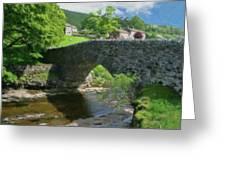 Single Arch Stone Bridge - P4a16018 Greeting Card