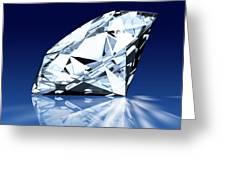 Single Blue Diamond Greeting Card by Setsiri Silapasuwanchai