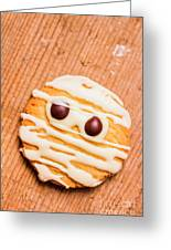 Single Homemade Mummy Cookie For Halloween Greeting Card