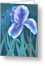 Single Iris With Buds Greeting Card