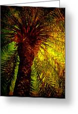 Single Palm Greeting Card