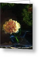Single Peony Greeting Card