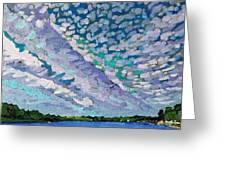 Singleton Altocumulus Morning Greeting Card