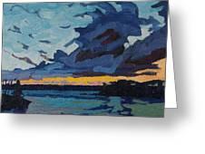 Singleton Sunset Stratocumulus Greeting Card