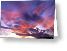 Singular Sunset Greeting Card