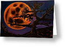 Sinister Moon Greeting Card