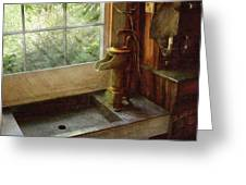 Sink - Water Pump Greeting Card