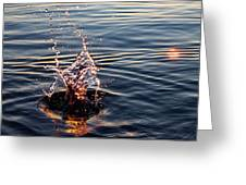 Sink And Surge Greeting Card