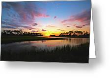 Sink Creek Sunset Greeting Card