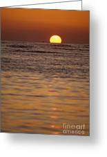 Sinking Into Ocean Greeting Card
