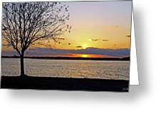 Sinking Sun Greeting Card