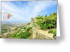 Sintra Castle Aerial Greeting Card