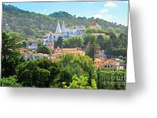 Sintra National Palace Aerial Greeting Card