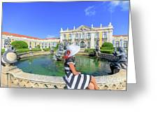 Sintra Travel Woman Greeting Card