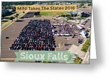 Sioux Falls Rise/shine 2 W/text Greeting Card