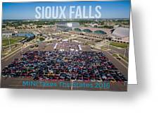 Sioux Falls Rise/shine 3 W/text Greeting Card