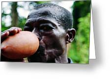 Sipping Palm Wine Greeting Card