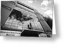 sir alex ferguson stand Manchester united old trafford stadium uk Greeting Card
