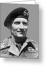Sir Bernard Law Montgomery  Greeting Card