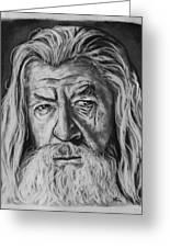 Sir Ian Mckellen As Gandalf The Grey Greeting Card
