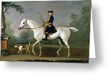 Sir Roger Burgoyne Riding 'badger' Greeting Card